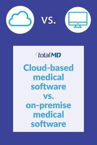 Cloud-based medical software vs. on-premise medical software