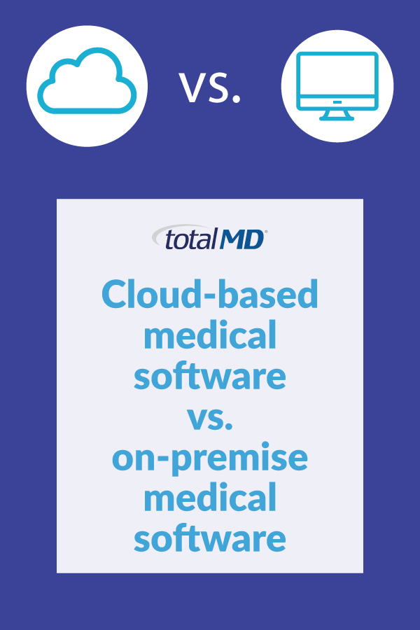 Cloud-based medical software vs. on-premise medical software